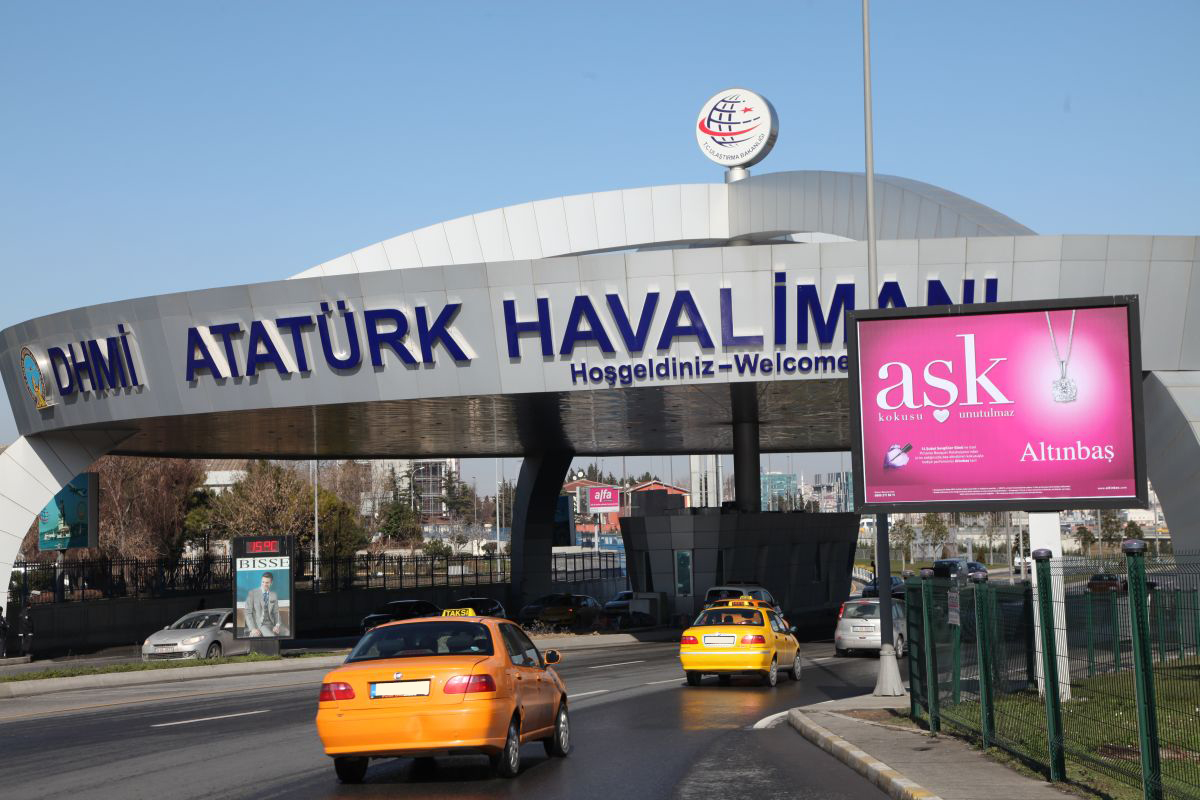 Durukan Advertising Ataturk Airport Sign A-34